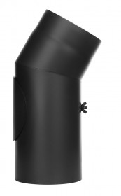 Ofenrohr - Winkel 30° mit Tür schwarz - Jeremias Ferro-Lux