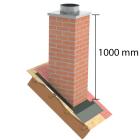 """Kaminverkleidung Stülpkopf Furado L=1000 mm """"Klinker"""" - Jeremias Furado A - Maße"""