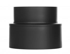 Ofenrohr - doppelwandig - Übergang von ISO-Line auf Schornstein (Wandfutter) schwarz - Jeremias Iso-