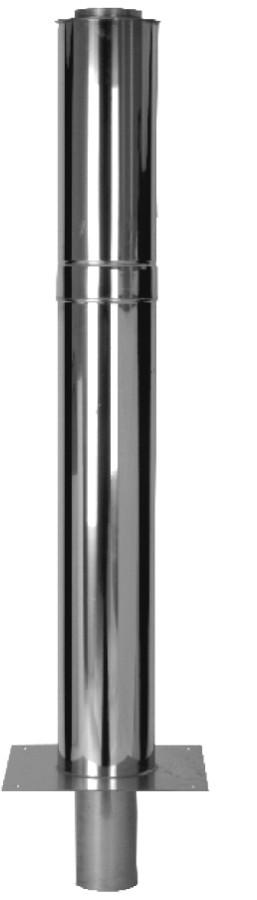 Kaminerhöhung Doppelwandig, 1000 mm - Einschublänge 250 mm