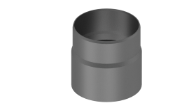 Ofenrohr - Übergang Kaminofen-Verbindungsleitung gussgrau - Jeremias Iso-Line