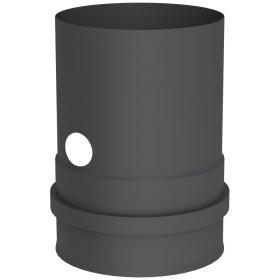 Pelletofenrohr - Kesselanschluss schwarz mit Doppelmuffe inkl. Messstutzen - Jeremias Pellet-Line