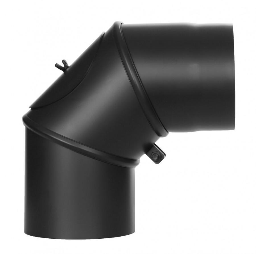 Ofenrohr FERRO1431 - Winkel 0°- 90° schwarz drehbar