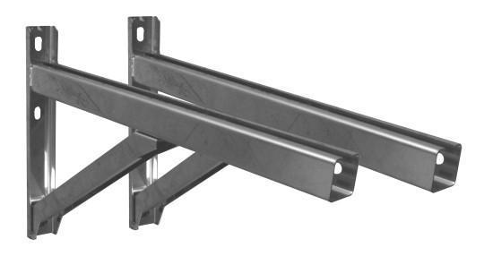 Wandstützen & Querträger, Typ II, 500 mm  für Jeremias DW-Systeme