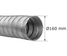 Flexrohr einlagig Ø 160 mm, Edelstahl