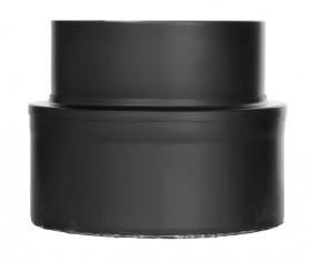 Ofenrohr - doppelwandig - Übergang vom Kaminofen auf ISO-Line schwarz - Jeremias Iso-Line