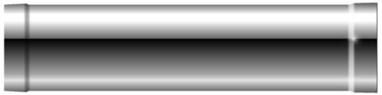 Rohrelement 505 mm NL - doppelwandig - Schräder Future DW