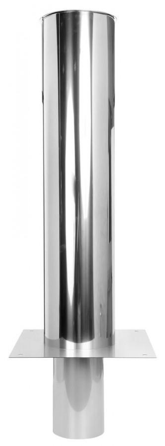 Kaminerhöhung einwandig 1500 mm mit rundem Einschub