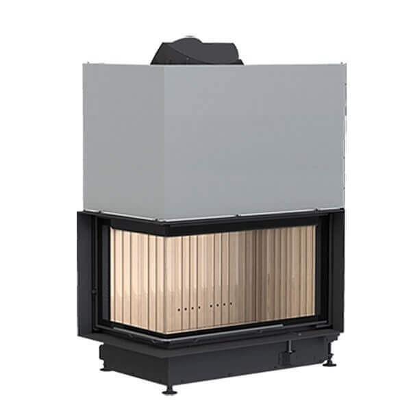 brunner eckkamin 45 82 48 schiebet r 12kw kamineinsatz schornstein fachhandel. Black Bedroom Furniture Sets. Home Design Ideas