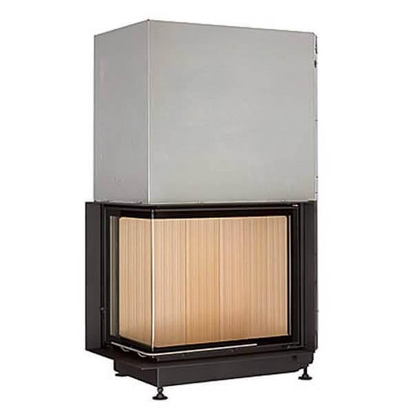 brunner eckkamin 57 67 44 schiebet r 15kw wasserf hrend kamineinsatz schornstein fachhandel. Black Bedroom Furniture Sets. Home Design Ideas