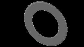 Ofenrohr - doppelwandig - Wandrosette 55 mm gussgrau - Jeremias Iso-Line