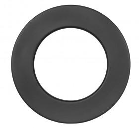 Ofenrohr - doppelwandig - Wandrosette 55 mm schwarz - Jeremias Iso-Line