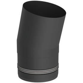 Pelletofenrohr - Winkel 15° starr - schwarz lackiert - Jeremias Pellet-Line