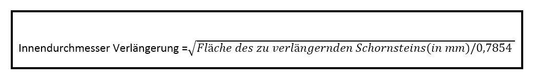 Formel-Schornsteinverlangerung
