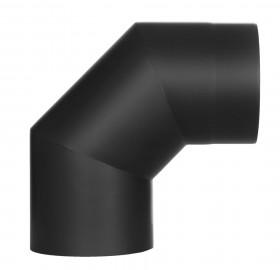 Ofenrohr - doppelwandig - Winkel 90° ohne Tür schwarz - Jeremias Iso-Line