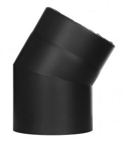 Ofenrohr - doppelwandig - Winkel 30° ohne Tür schwarz - Jeremias Iso-Line