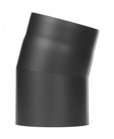 Ofenrohr - Winkel 15° ohne Tür schwarz - Jeremias Ferro-Lux