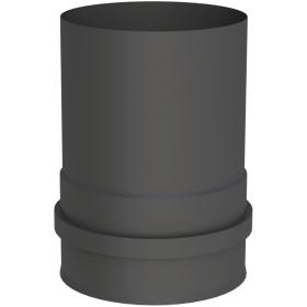 Pelletofenrohr - Kesselanschluss mit Doppelmuffe schwarz - Jeremias Pellet-Line
