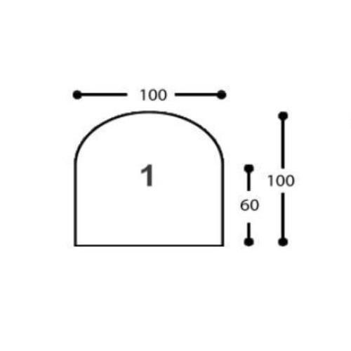 Universal Glas-Funkenschutzplatte, 6 mm ESG