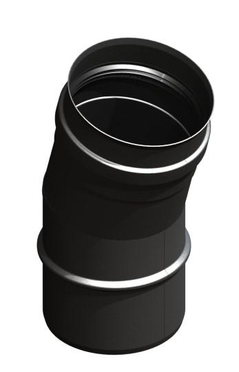 Winkel 15° starr, schwarz lackiert
