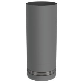 Pelletofenrohr - Längenelement 250 mm - gussgrau lackiert - Jeremias Pellet-Line
