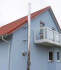 Edelstahlschornstein DW-FU Aufbaumodell