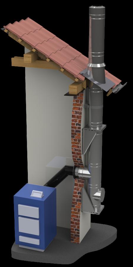 edelstahlschornstein bausatz 120 mm dw mammut schornstein fachhandel. Black Bedroom Furniture Sets. Home Design Ideas