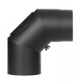 Ofenrohr - Winkel 90° mit Tür schwarz - Jeremias Ferro-Lux