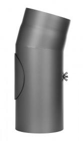 Ofenrohr - Winkel 15° mit Tür gussgrau - Jeremias Ferro-Lux