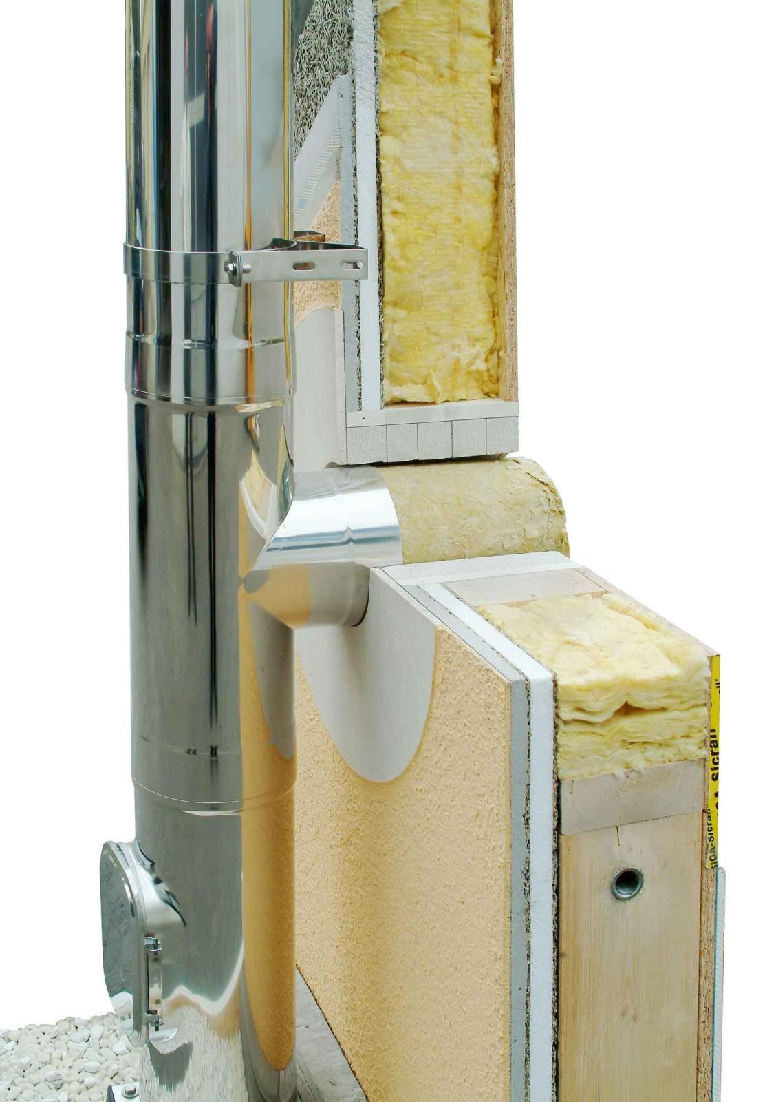 wanddurchf hrung raab bis 120 mm wandst rke schornstein. Black Bedroom Furniture Sets. Home Design Ideas