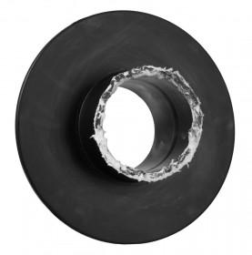 Übergang einwandig mit Wandfutter und Wandrosette schwarz