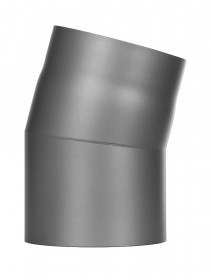 Ofenrohr - Winkel 15° ohne Tür gussgrau - Jeremias Ferro-Lux