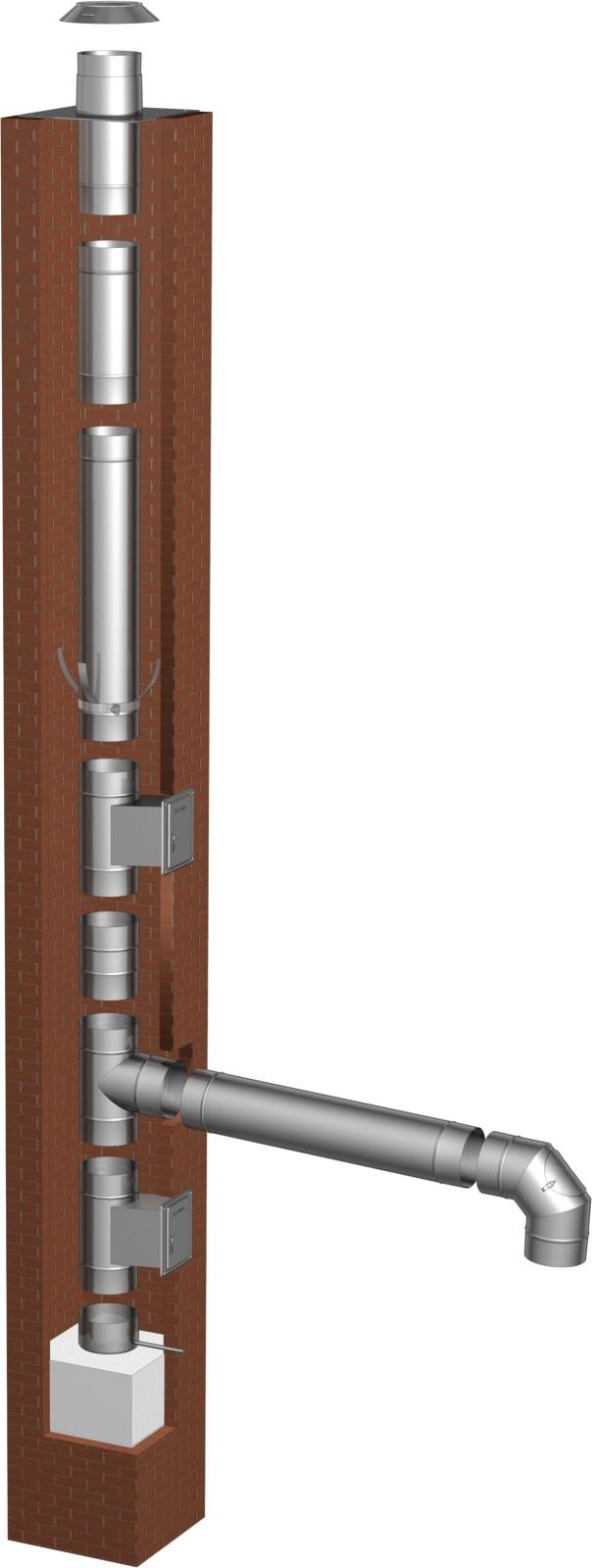 schornsteinsanierung bausatz 115 mm ew fu schornstein fachhandel. Black Bedroom Furniture Sets. Home Design Ideas