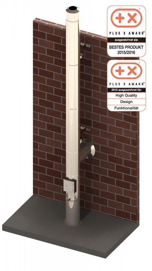 edelstahlschornstein 150mm dw vision schornstein fachhandel. Black Bedroom Furniture Sets. Home Design Ideas