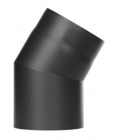 Ofenrohr - Winkel 30° ohne Tür schwarz - Jeremias Ferro-Lux