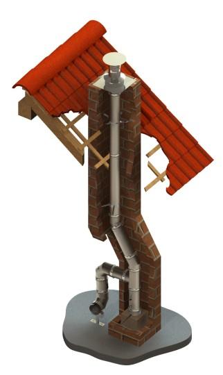 Schornsteinsanierung einwandig Ø 120 mm - Jeremias EW-FU
