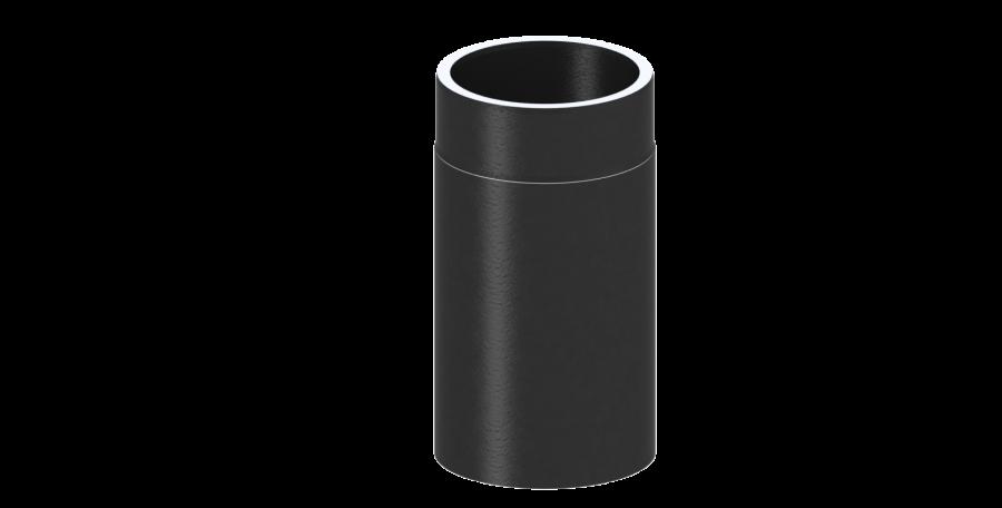 Ofenrohr - Längenelement 330 mm schwarz