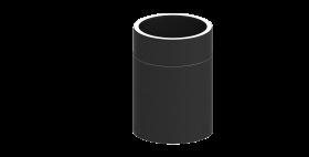 Ofenrohr - doppelwandig - Längenelement 250 mm schwarz - Jeremias Iso-Line