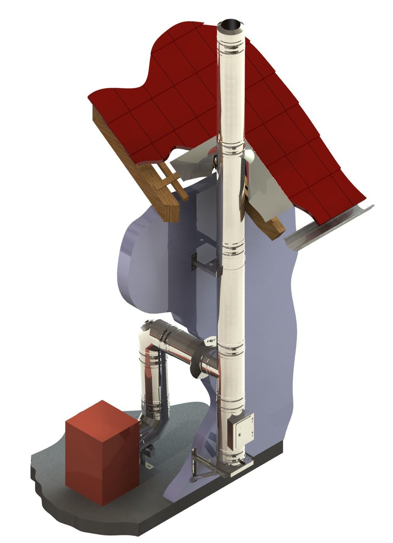 edelstahlschornstein bausatz 180 mm dw fu schornstein fachhandel. Black Bedroom Furniture Sets. Home Design Ideas