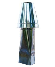 Schornsteinaufsatz einwandig - Kegel Haube - 330 mm Höhe