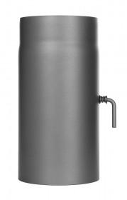 Ofenrohr - Längenelement 300 mm mit Drosselklappe gussgrau - Jeremias Ferro-Lux