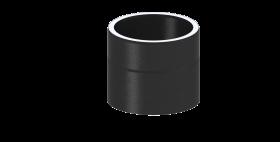 Ofenrohr - doppelwandig - Längenelement 150 mm schwarz - Jeremias Iso-Line