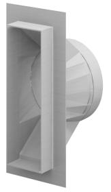Schornstein-Verbrennungsluftstutzen für separaten Schacht - CB-tec