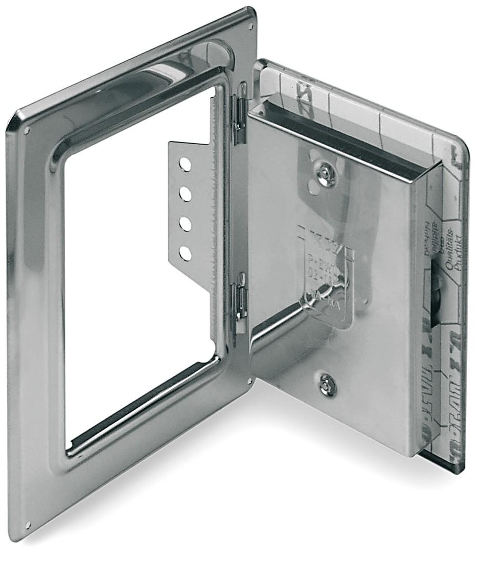 Kamint/üre Schornsteint/üre 300 x 200 mm mit Schiebestutzen 60 mm aus Edelstahl f/ür einwandige Schornsteine