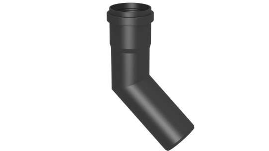Winkel 45° starr - Kunststoff für Jeremias EW-PPS