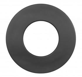 Ofenrohr - doppelwandig - Wandrosette bis 85 mm schwarz - Jeremias Iso-Line
