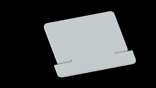Wasserableitbleche für Wandstützen - Typ 1