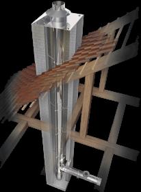 Schornsteinsanierung einwandig Ø 130 mm - Schräder Future EW