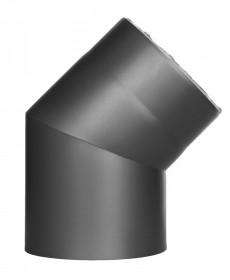 Ofenrohr - doppelwandig - Winkel 45° ohne Tür gussgrau - Jeremias Iso-Line