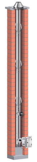 Schornsteinsanierung einwandig Ø 130 mm - Schiedel PRIMA PLUS